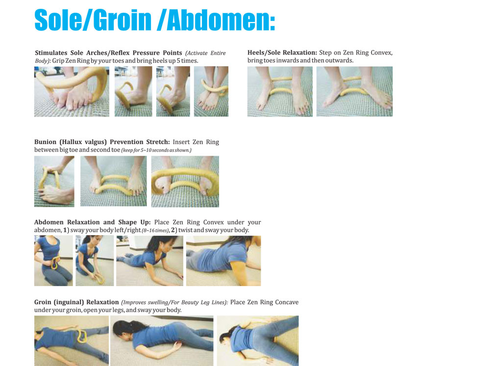 Wave Stretch Exercise - Sole/Groin/Adbomen